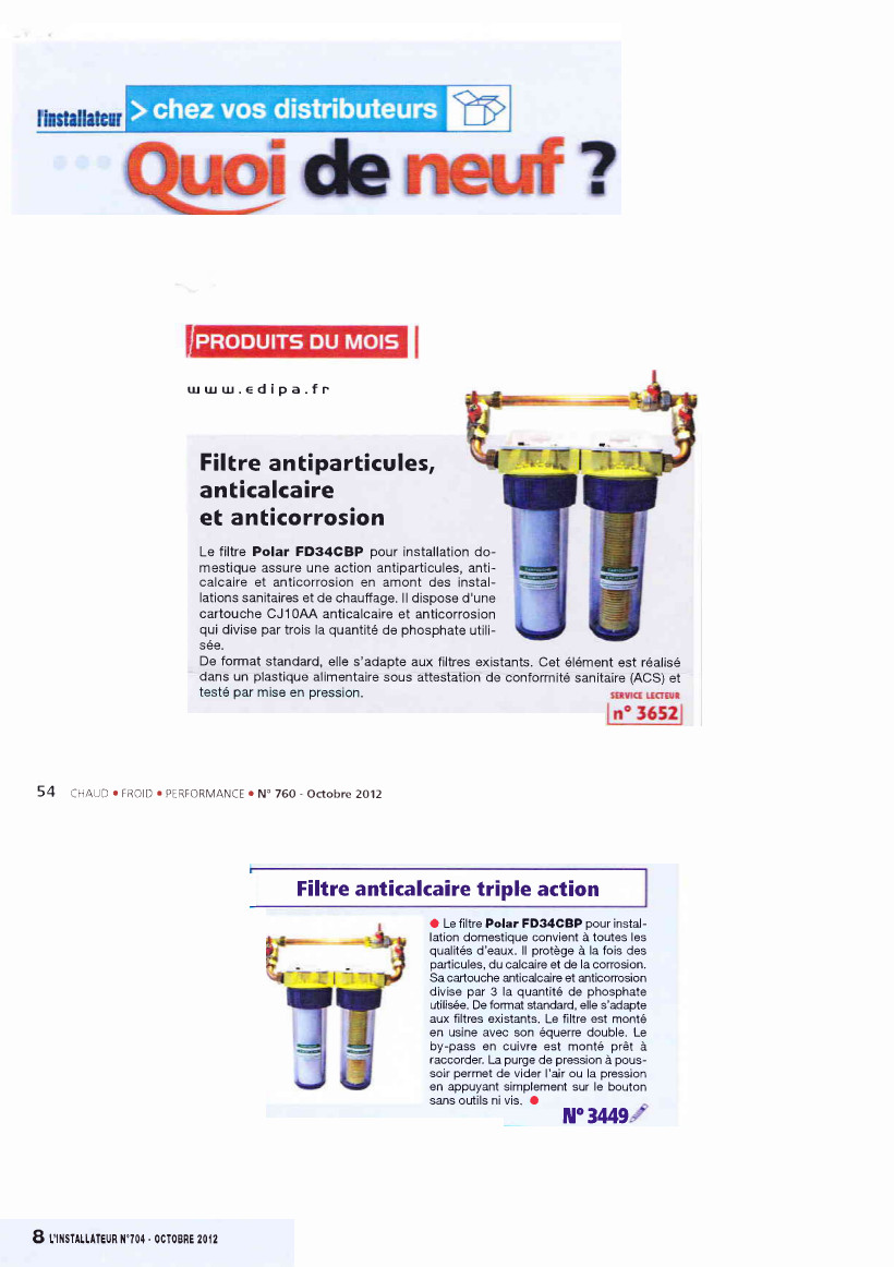 Acceder au documentFD34CBP - Magazine L\'INSTALLATEUR